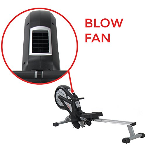 Sunny Health & Fitness SF-RW5623 Air Rowing Machine Rower w/ LCD Monitor by Sunny Health & Fitness (Image #7)
