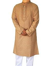 Maple Clothing Cotton Embroidered Mens Kurta Pajama India Clothes