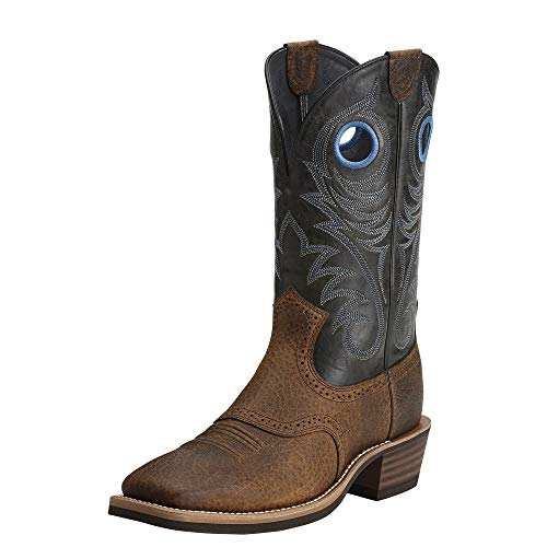 Ariat Men's Heritage Roughstock Western Cowboy Boot, Earth/Vintage Black, 9.5 D