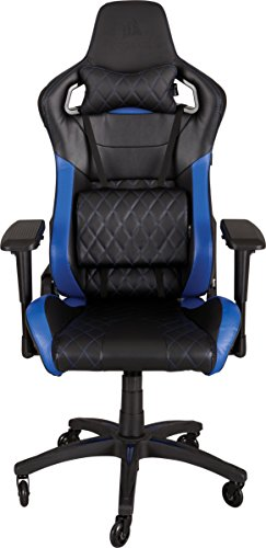 Corsair T1 Race, Gaming Chair, High Back Desk & Office Chair, Black/Blue by Corsair