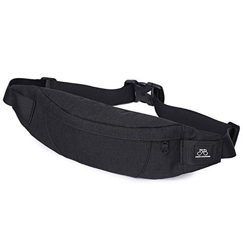 (GoFar Fanny Pack, Slim Water Resistant Waist Bag Chest Sling Bag Hip Purse for Men Women Outdoors Running Hiking Carrying Phone Money & Everyday Essentials (Black))
