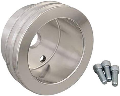 March Performance 6071 Clear Powder Coated Billet Aluminum V-Belt Crankshaft Pulley