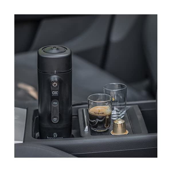 41XUrN3VWQL HANDPRESSO- Handpresso Auto Capsule 21020 NEUES MODELL Tragbare Espresso-Kaffeemaschine für das Auto, PKW und LKW 12V…