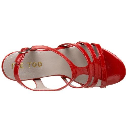 Me Too Kvinna Jones T-strap Sandal Röd Patent