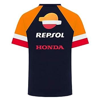 REPSOL RACING 2019 MotoGP T-Shirt pour Homme 100/% Coton Bleu Tailles S-XXL