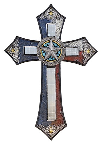 TEXAS CROSS WITH MIRROR - Western Cross Wall