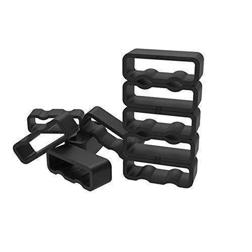 - for Garmin Vivofit & Vivofit 2 Secure Rings 10PCS Black Unique concave and Convex Antiskid Design Silicone Fastener Rings for Garmin Vivofit and Vivofit 2 (Wristbands Not Included)