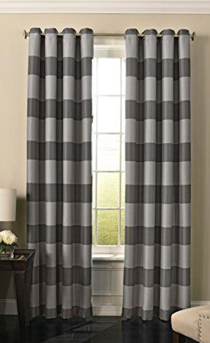 Beautyrest 15778052084GRE Gaultier 52-inch by 84-Inch Blackout Single Window CurtainPanel , Grey