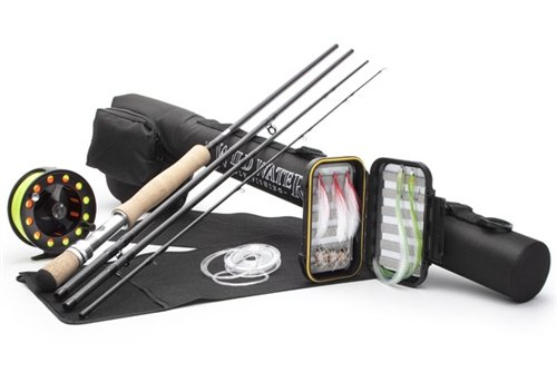 Wild Water Deluxe 7/8 9' Rod Saltwater Fly Fishing Complete Starter Package by Wild Water
