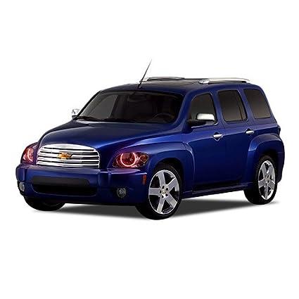 amazon com: flashtech chevrolet hhr 06-11 red single color led halo ring headlight  kit: automotive