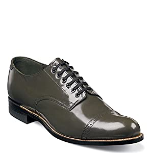 Stacy Adams Men's Madison Lizard Print Oxford, 13, Olive