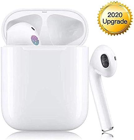 Auricular Bluetooth 5.0 Auricular inalámbrico Bluetooth 650mAh 20H Game Time Audio Estéreo 3D Auricular con micrófono, IPX5 Impermeable, Blanco