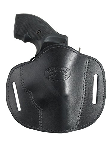 (Barsony New Black Leather Pancake Slide Holster for Ruger LCR 357 right)