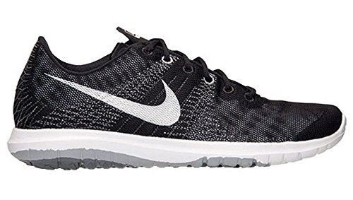 Nike Mens Flex Fury Athletic Black White Wolf Grey Running Shoes