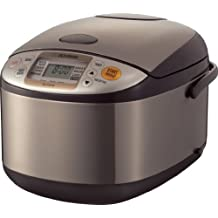 Zojirushi NS-TSC18 Micom Rice Cooker and Warmer, 10 cups, Uncooked, Stainless Brown