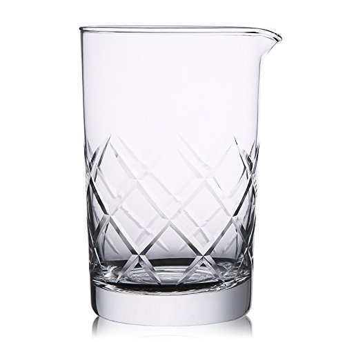 (Hiware Mixing Glass 24oz/700ml Thick Bottom Cocktail Glass Preferred by Pros and Amateurs Alike, Make Your Own Specialty Cocktails)