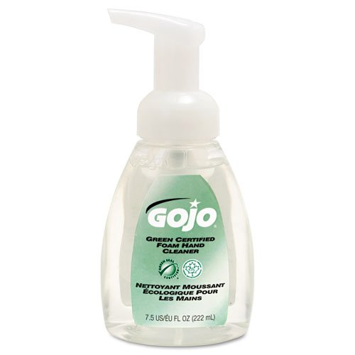 GOJO 571506CT Green Certified Foam Soap, Fragrance-Free, Clear, 7.5 oz. Pump Bottle (Pack of ()