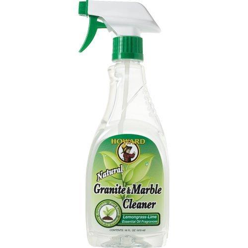 Howard GM5012 Natural Granite and Marble Cleaner, Trigger Spray, Lemongrass-Lime, 16-Ounce (3-Pack)