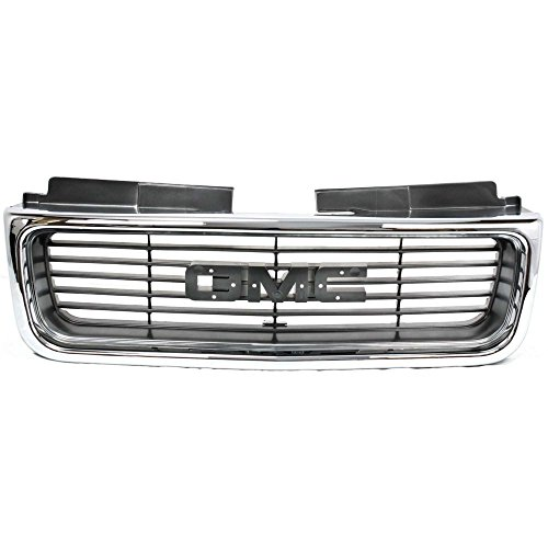 Gmc Jimmy Grille Replacement - Evan-Fischer EVA17772010877 Grille for GMC Jimmy 98-01 Sonoma 98-04 Chrome Shell/Painted-Silver Gray Insert SLE/SLT Models
