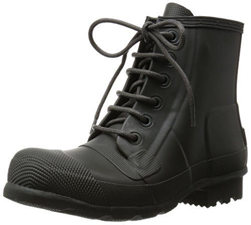Herren Hunter Original Lace up Gummi Wasserdicht Schnee Stiefeletten Dunkel Oliv