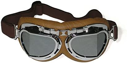 CRG Sports Vintage Aviator Pilot Style Motorcycle Cruiser Scooter Goggle T08 T08BCB – Parent