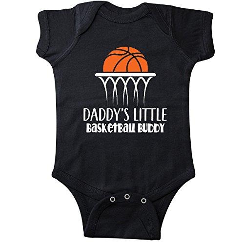 inktastic - Daddys Little Basketball Buddy Infant Creeper Newborn Black 2c7ac -