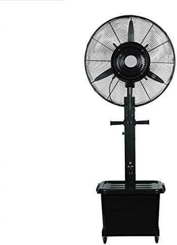 工業用スプレーファン、ステンレス製遠心スプレー、水と電気の分離床ファン、工場/倉庫/ワークショップ[色:黒]