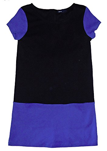 Gap Kids Girls Blue Black Mod Ponte Shift Zipper Dress Large 10 (Gap Blue Dress)