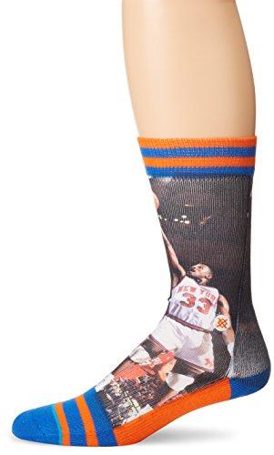 Stance Men's Patrick Ewing New York Knicks Crew Socks, Blue, Sock Size:10-13/Shoe Size: 6-12