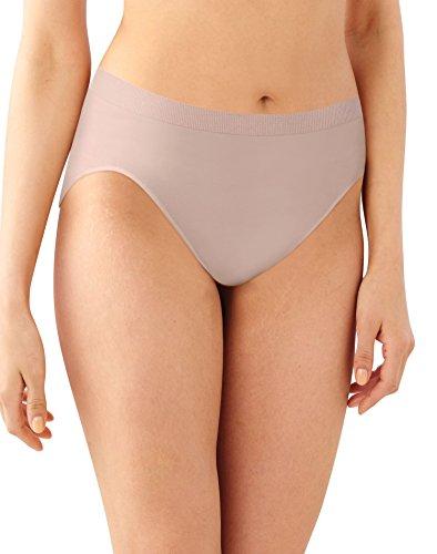 Bali Womens Comfort Revolution Microfiber Hi-Cut Panty, 3-Pack, 11 ()