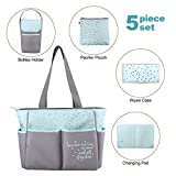 Diaper Bag Tote 5 Piece Set with Sun, Moon, and