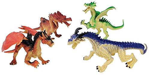 Toy Essentials 4 Piece Large Dragon Action Fantasy Figures