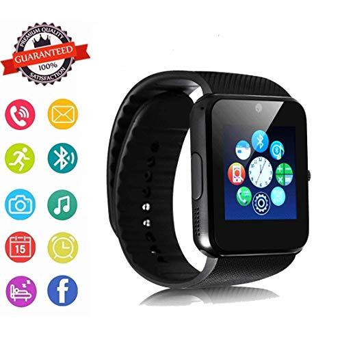 Fandazzie Bluetooth Smart Watch Fitness Tracker, Camera, Call SMS Reminder, Sleep Monitor, Pedometer Sports Wrist Watch Pedometer for Kid Men Women (Black)