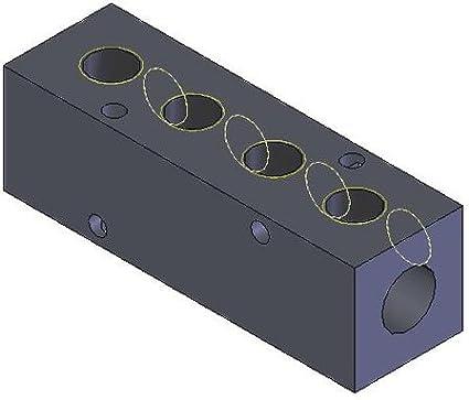 3//8 NPT Inlet MM-810 Aluminum Double-Sided Ports Manifold 1//4 NPT Ports