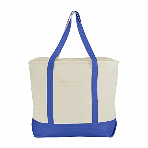 """ImpecGear 22"""" Deluxe Heavy Duty Zippered Cotton Canvas Tote"""