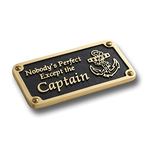 Nautical Style Plaque By TheMetalFoundry.Ltd – Humorous Signs Hand Made In England From Solid Cast Brass. Reads: