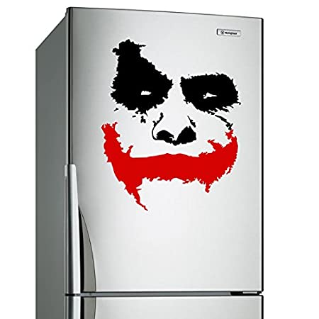 60x50 cm vinyl wall decal scary joker face why so serious movie