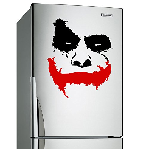 """( 31'' x 26'') Vinyl Wall Decal Scary Joker Face """"Why So Serious?"""" Movie Batman: The Dark Knight / Removable Decor Sticker Mural + Free Random Decal Gift!"""