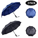 PFFY 2 PACK Compact Travel Umbrella Windproof