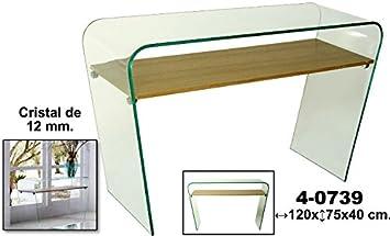 DonRegaloWeb - Mesa de entrada - consola de cristal y balda ...