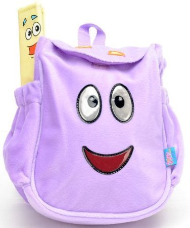 Nickelodeon Dora - the Purple Plush Toddler Backpack and Dora Bifold Wallet Set Dora The Explorer Wallet