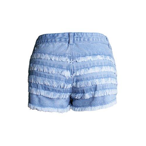taglia da dimagranti FuweiEncore moda in Pantaloncini corti grande donna denim Blu OSPaSgqw