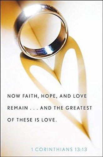 Ring with Heart Wedding Bulletin (Pkg of 50)]()