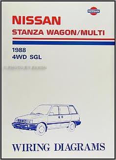 1988 nissan stanza wagon/multi wiring diagram manual original: nissan:  amazon com: books