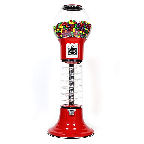 Spiral Gumball Vending Machines - Original Wizard 4'10'' - $0.25 (Red) by Global Gumball (Image #5)