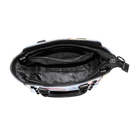 TIZORAX Shoulder Top Women's Places Paris PU Handle Leather Bags Handbags Interesting AqAHCwF