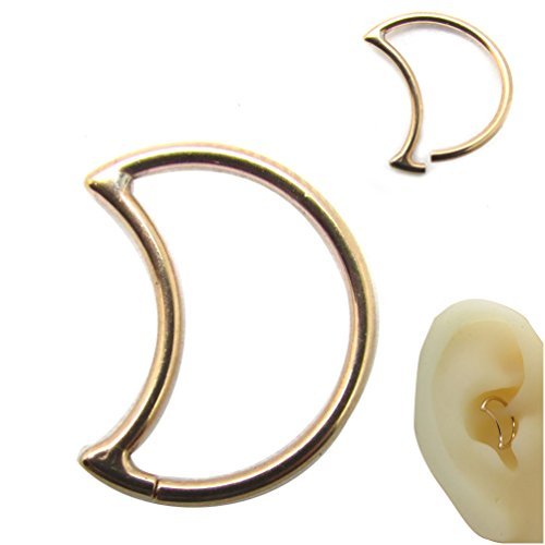 16 daith earrings newkeepsr 18ga 8mm 5 16 quot annealed crescent daith seamless 8003