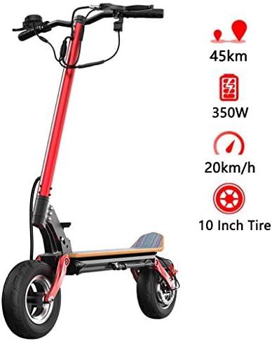 電動スクーター大人、350wモーター、最大速度20km / h、10インチ空気入りタイヤ、100kg最大負荷、折りたたみ式E-スクーター、大人用、インテリジェントLEDディスプレイ、携帯電話用USB充電