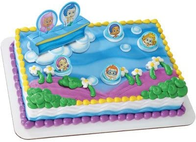 Pleasing Amazon Com Bubble Guppies Birthday Cake Kit Kitchen Dining Birthday Cards Printable Trancafe Filternl