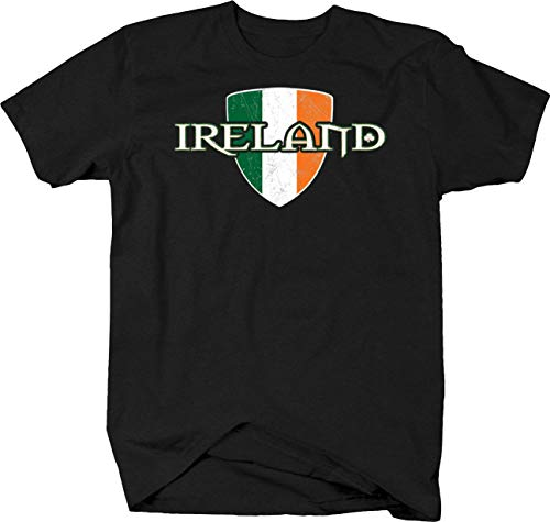 Ireland Flag Dublin Beer Fighting Irish Luck of The Irish Tshirt - 4XL Charcoal